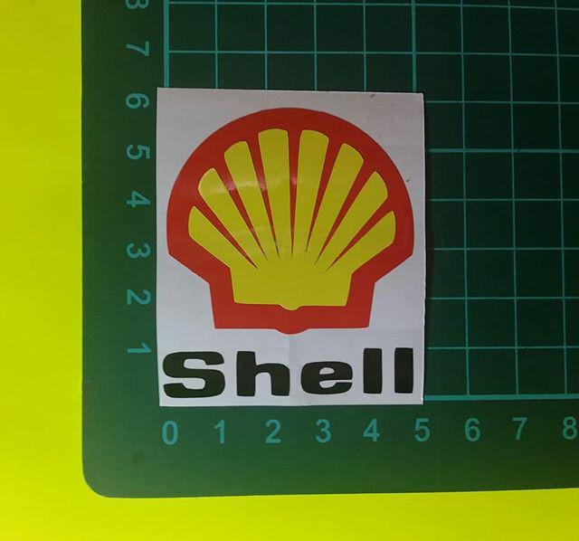 Jual Sticker Cutting Logo Shell Kab Bekasi Karunia Digital Printing Tokopedia