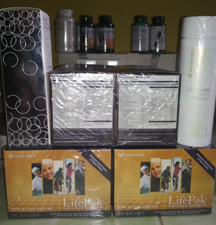 harga Lifepak 2 box 60 sachet & ageloc y-span (youth span/yspan) Tokopedia.com