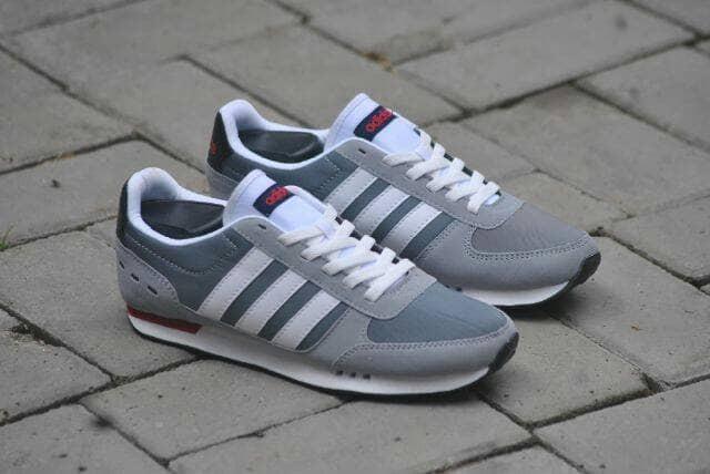 5851bc800444 ... reduced sepatu adidas neo city racer grey list white original bnwb  indonesia 1374c 5deb7
