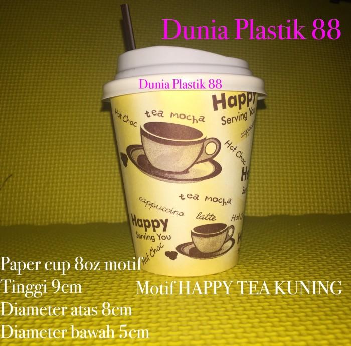 harga Paper cup complit isi 50pc / gelas kertas / gelas kopi / gelas foam Tokopedia.com