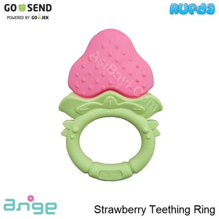 Ange strawberry teething ring mainan gigitan bayi bentuk buah
