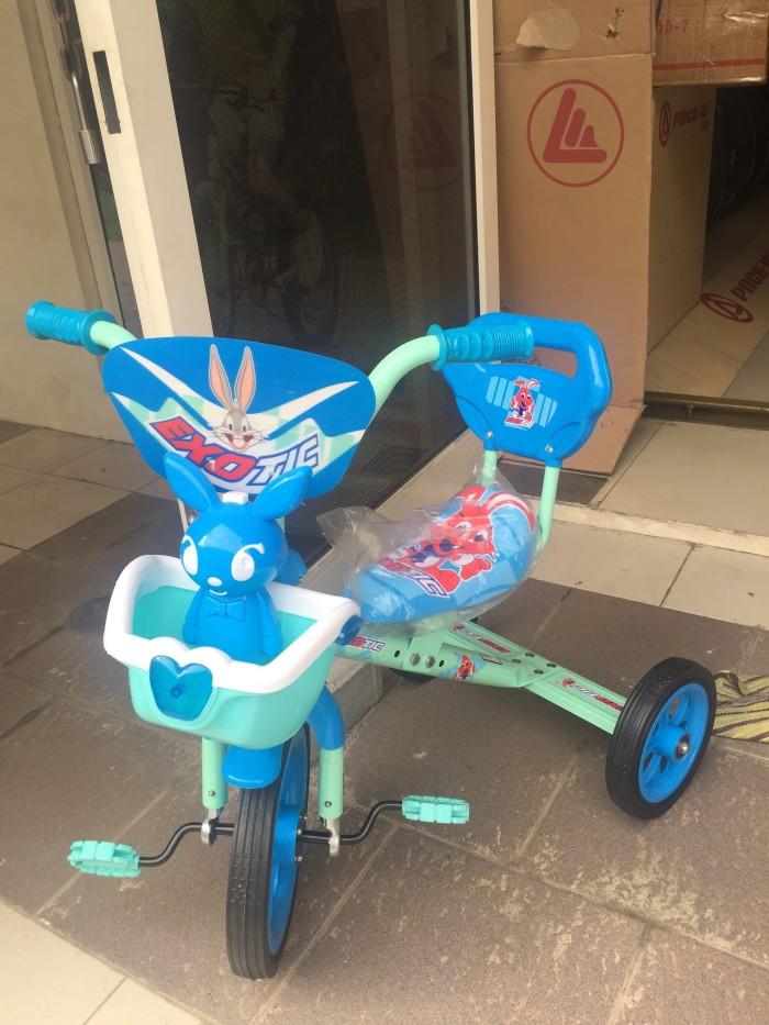 harga Sepeda Roda Tiga Senderan Exotic Musik Warna Biru Buat Anak-anak Tokopedia.com