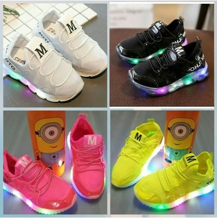 harga Sepatu anak import m korea style murah dengan lampu led Tokopedia.com