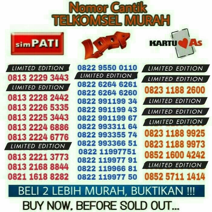 Telkomsel Kartu As Nomor Cantik 0852 10000 868 Daftar Harga Source Nomor Cantik Kartu Perdana
