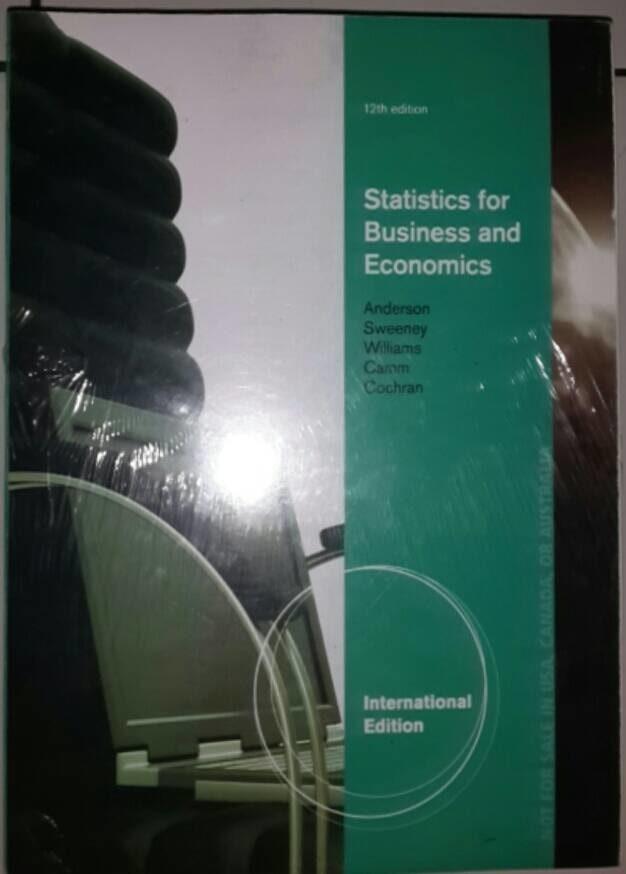 Jual BUKU Statistics for Business and Economics ed 12 kar Anderson - DKI  Jakarta - BUKU KU ILMUKU | Tokopedia