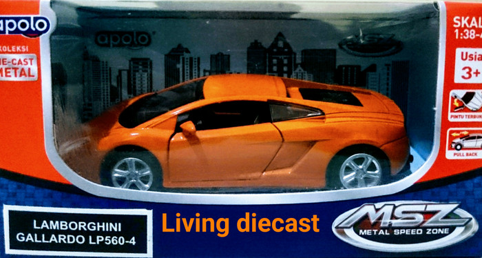 Jual Diecast Lamborghini Gallardo Orange Color Living Die Cast