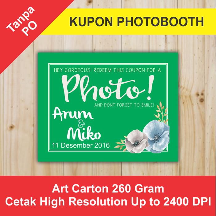 Foto Produk KUPON SOUVENIR PHOTOBOOTH KPB 35x45 - Orange dari Bekasi Printing