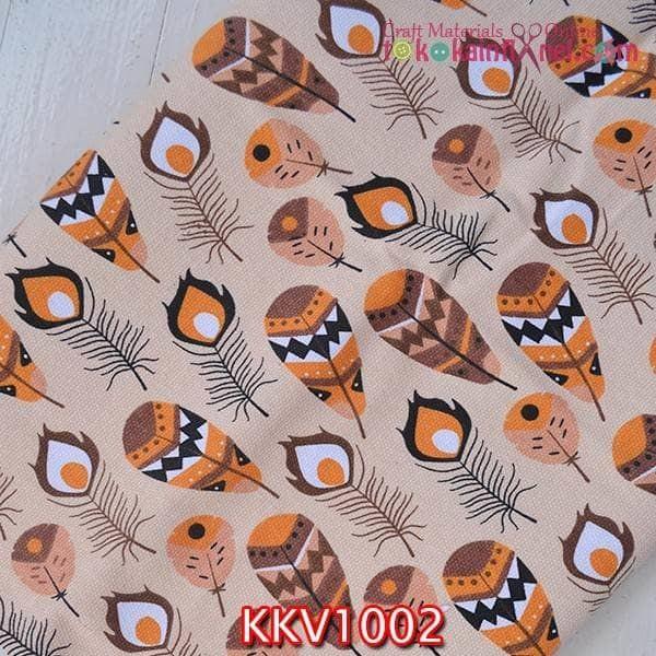 harga Kkv1002 kain kanvas motif bulu merak cokelat muda ukuran 48x145cm Tokopedia.com