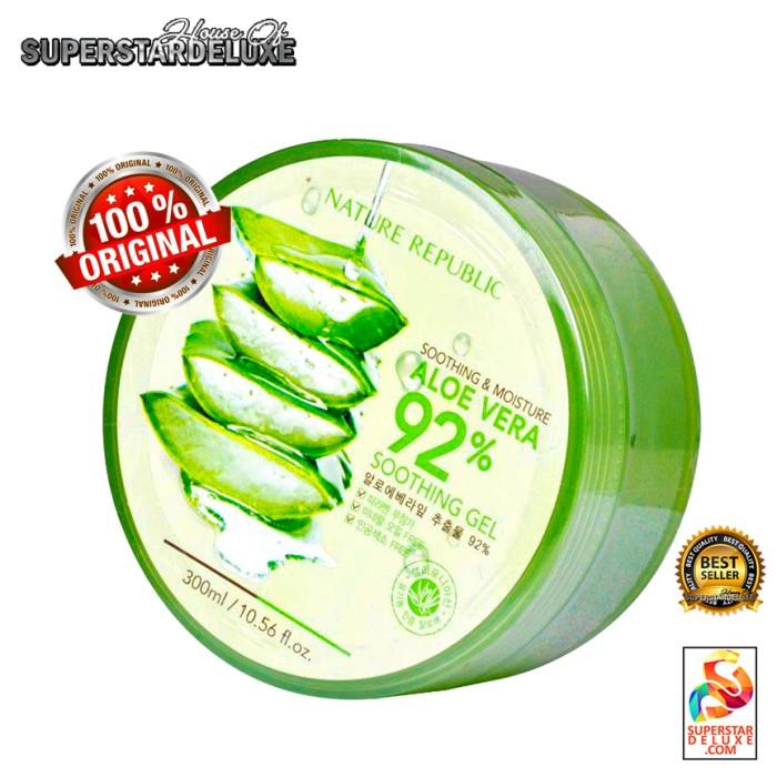 harga Nature republic aloe vera soothing gel 100% original korea Tokopedia.com