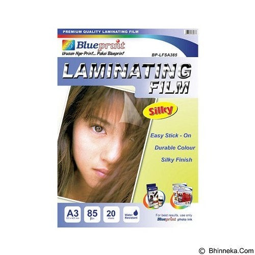 harga Blueprint laminating silky film a3 20sheet 85um/paper/silky film Tokopedia.com