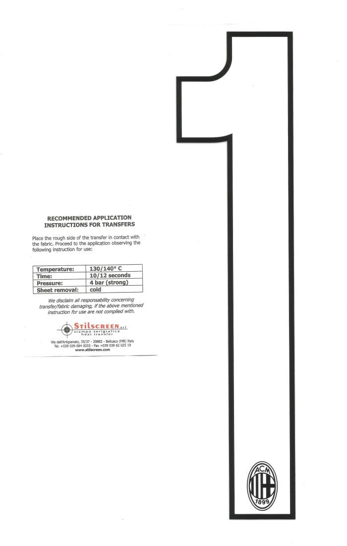 harga Ac milan custom number/white home 2012-14. for original jersey Tokopedia.com