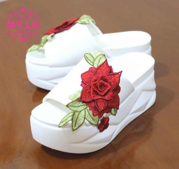 harga Sandal wedges flat heel casual wanita import mylo ms1122 high qlty Tokopedia.com