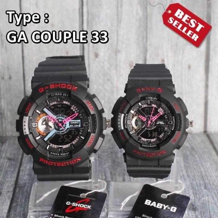 Jam tangan COUPLE G Shock Casio GA100 Black MODEL TERBARU dual time fdd356d1af
