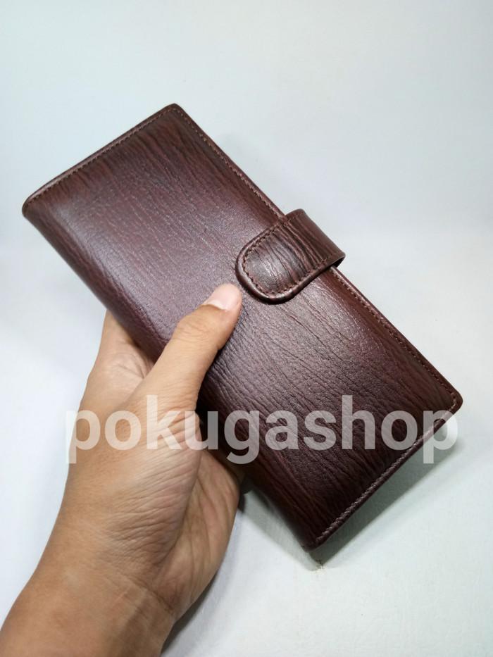 Jual dompet kulit panjang premium serat kayu pria wanita  asli kulit ... 45ec125a39