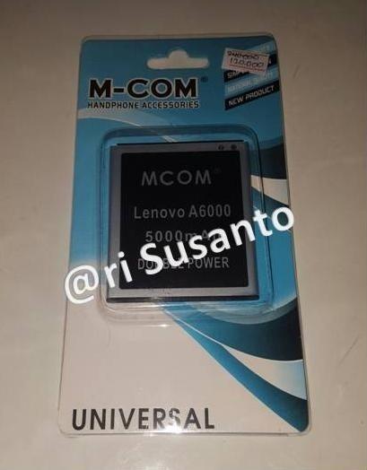 harga Baterai mcom for lenovo a6000 / a6010 double power 5000mah Tokopedia.com