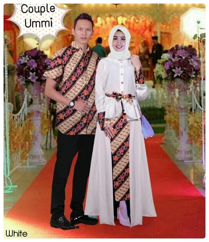 Baju Kebaya Pesta Couple Ummi Benhur Putih Muslim Pasangan Ummina Tm