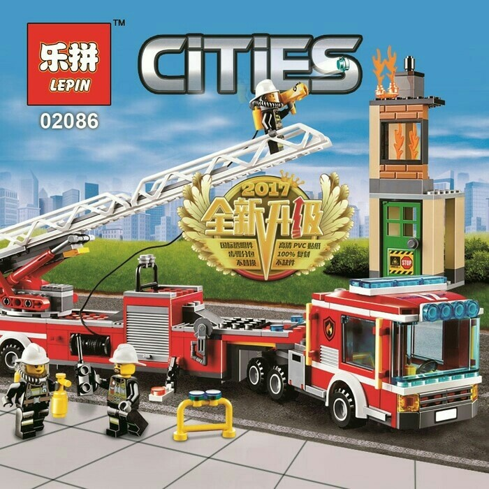 Review Lego Mobil Pemadam Kebakaran City Fire Engine Set 421pcs Di