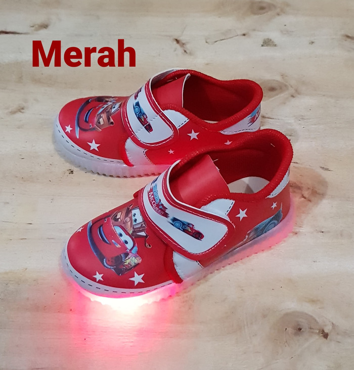 harga Sepatu cars lampu #sepatu anak laki #sepatu kets anak #sepatu spiderma Tokopedia.com