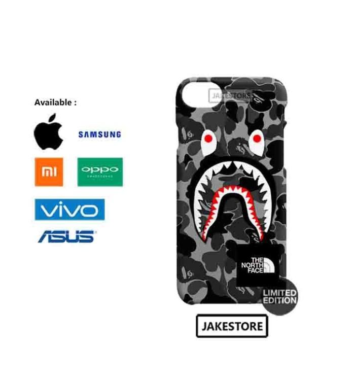 harga Case oppo f5  bape shark camo pattern the north face hardcase Tokopedia.com