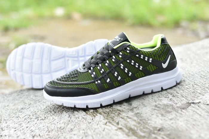 Jual Sepatu Nike Airmax Flyknit 3D Skin Abu Tua Hijau Stabilo Import ... 08cd5b4f72