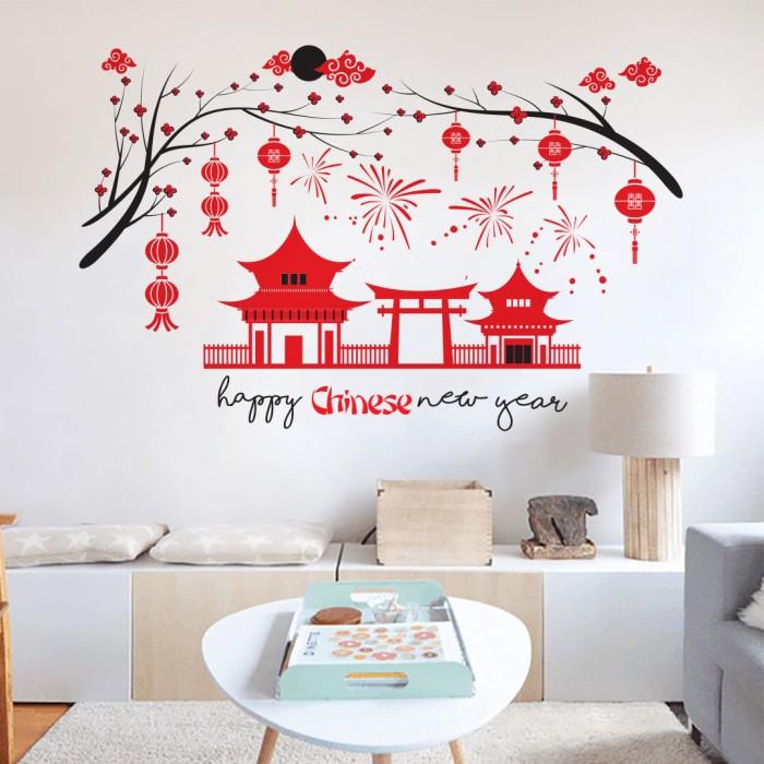 jual wall sticker chinease new year - kota malang - i wall you shop