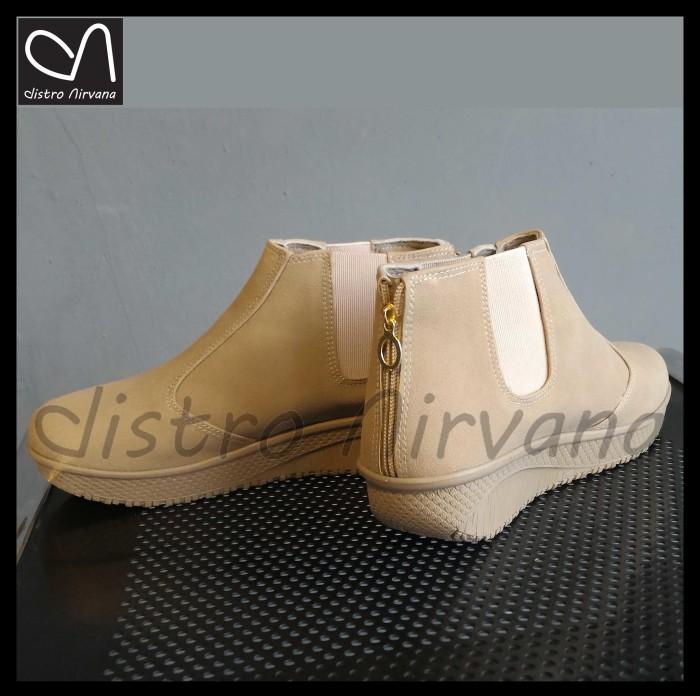 harga Sepatu wanita  boots casual kerja hangout distro boot cewek Tokopedia.com
