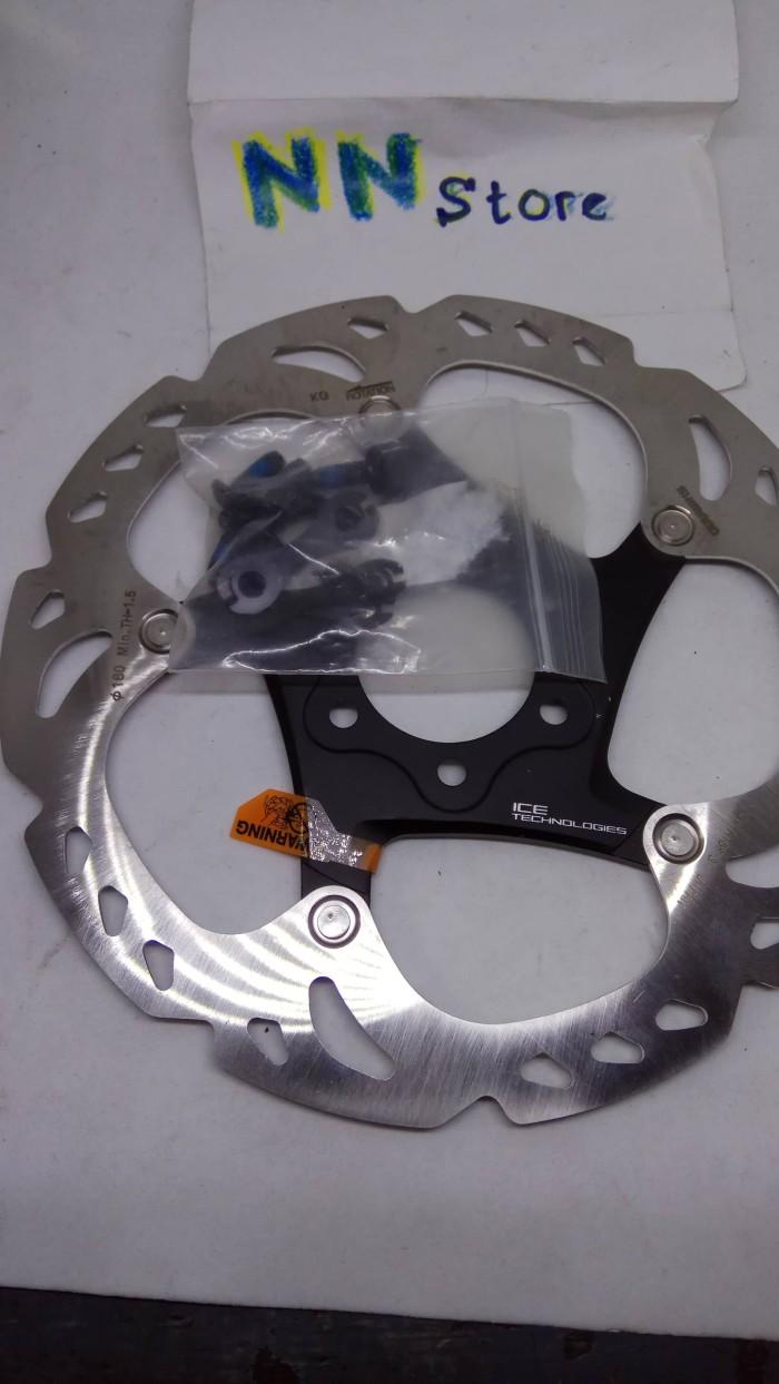 harga Rotor sepeda shimano xt rt86 ice tech 160mm 6 inchi 6 bolt Tokopedia.com