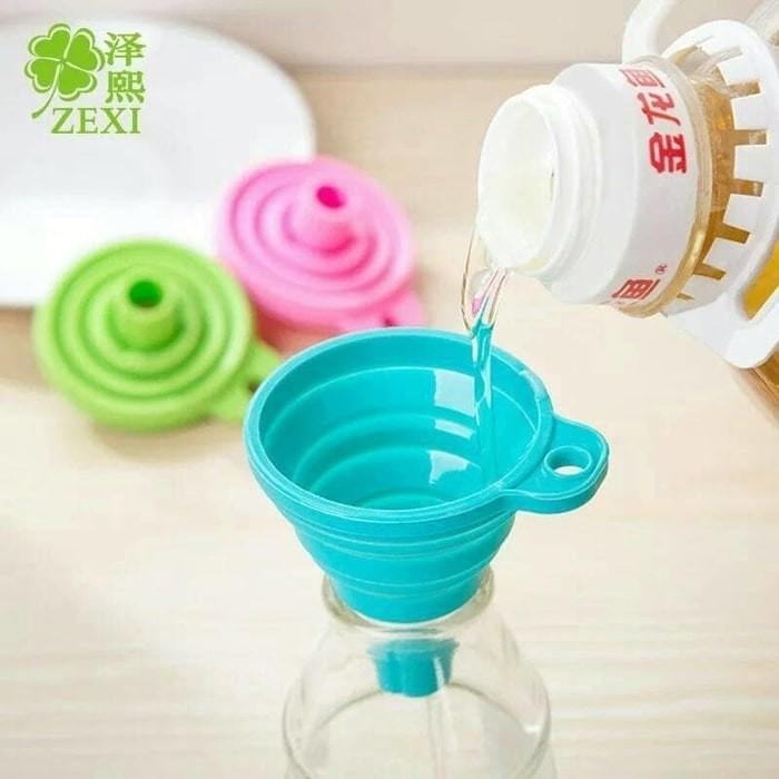 Foto Produk Corong Bulat Lipat Air / Silicone Minyak dari AnerStore