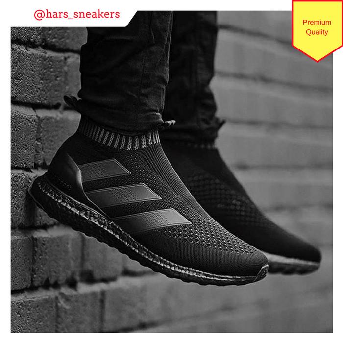1c67aa89f3b78 Jual Sepatu Adidas Ace 16 PureControl Ultra Boost All Black Premium ...