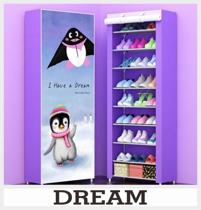 harga Rak sepatu portable dream multifungsi lemari pakaian anak rak 10 susun Tokopedia.com