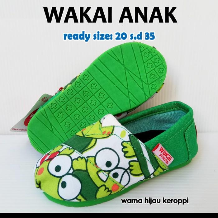 harga Sepatu wakai anak murah - hijau keroppi sol hijau Tokopedia.com