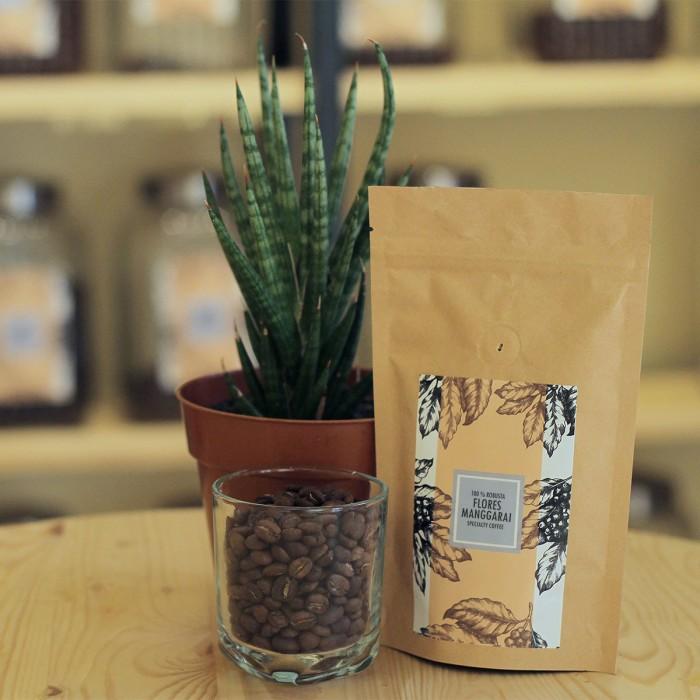 Biji kopi robusta flores manggarai 100gr