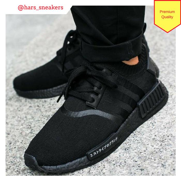 new arrival 4a8f9 760fa Jual Sepatu Adidas NMD R1 Primeknit Japan Triple Black Premium Quality -  DKI Jakarta - HarsoyoEko Store   Tokopedia