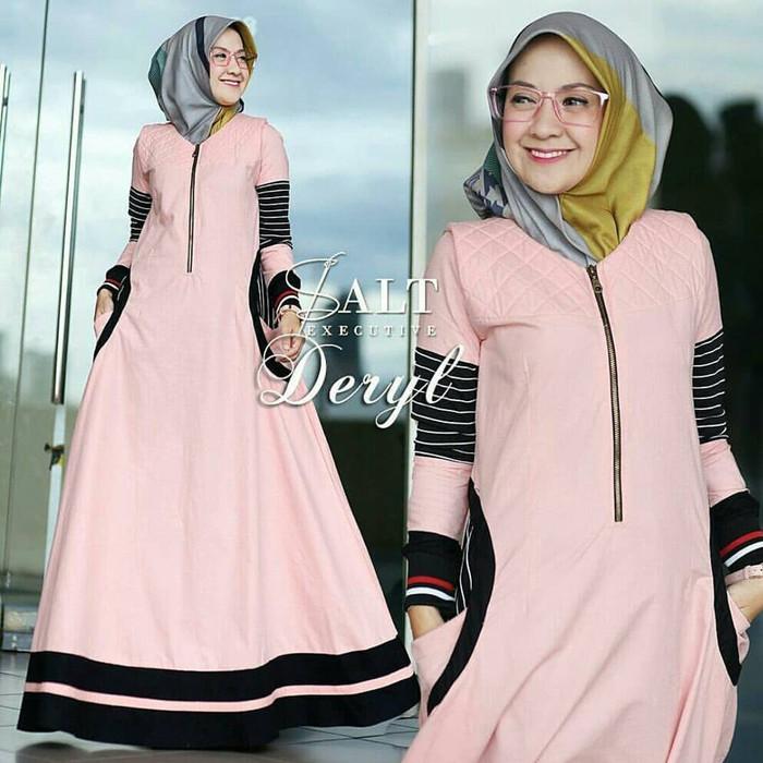 Jual Model Baju Muslim Wanita Kekinian Dress Muslim Deryl Tampil Elegant Buahbatu Giselle Storee Tokopedia