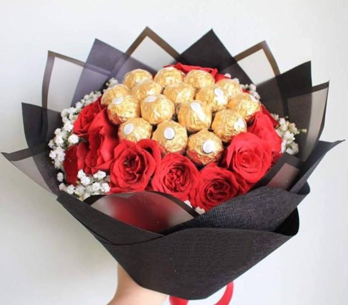 Jual Bouquet Bunga Buket Bunga Cokelat Valentine Hadiah Jakarta Timur Has117 Tokopedia