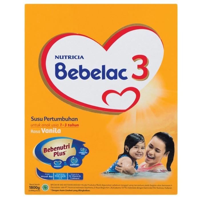 harga Nutricia bebelac 3 susu pertumbuhan vanila box - 1800 gr Tokopedia.com
