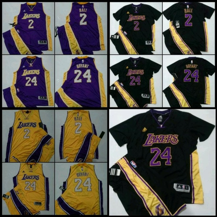 Jual best product Setelan Jersey Basket NBA Swingman LA Lakers Kobe ... dbb42ff05