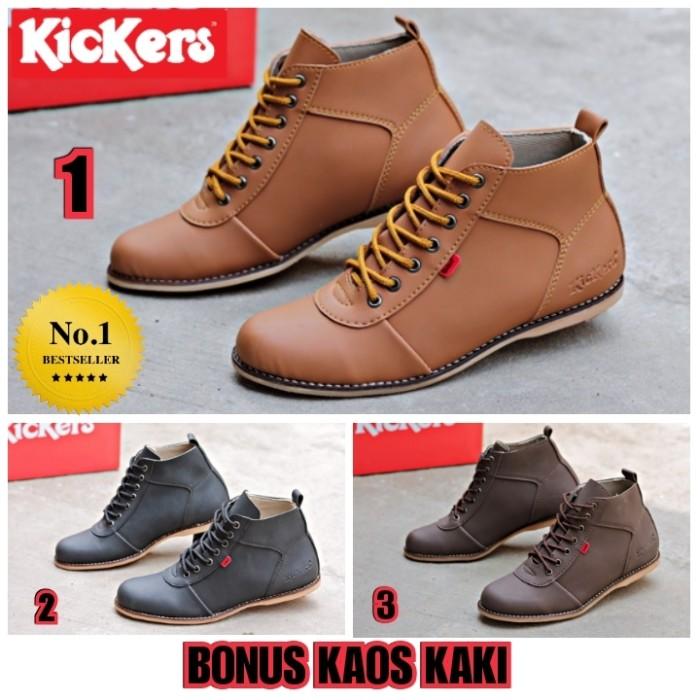 Jual Sepatu Pria Kickers Brodo Bandit Semi Boots Semi Kulit All ... 6092dbc7cb