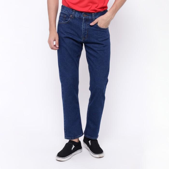 Edwin celana jeans slim fit pria panjang biru roma 03