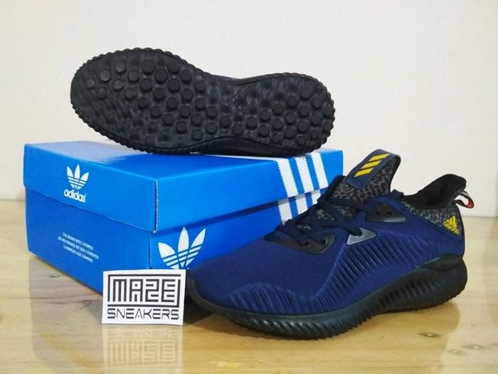 70764b9c4 Jual Sneakers Casual   Olahraga Adidas Alphabounce (Navy Black ...