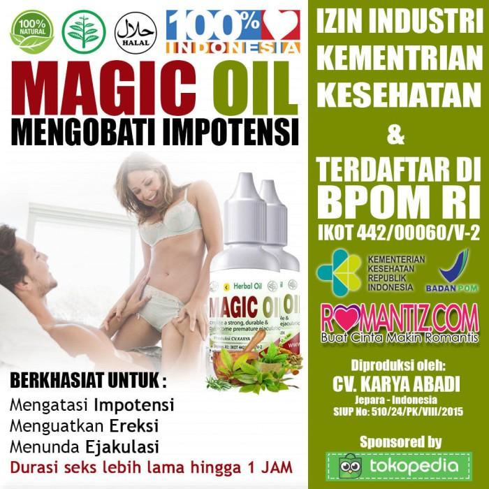 Terbukti Magic Oil - Obat Oles Herbal Menyembuhkan Impoten