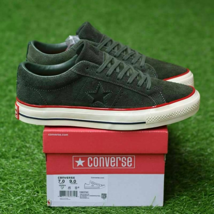 e98a622a50e3 Jual Converse one star ox suede olive undefeated - Gridlock Footwear ...