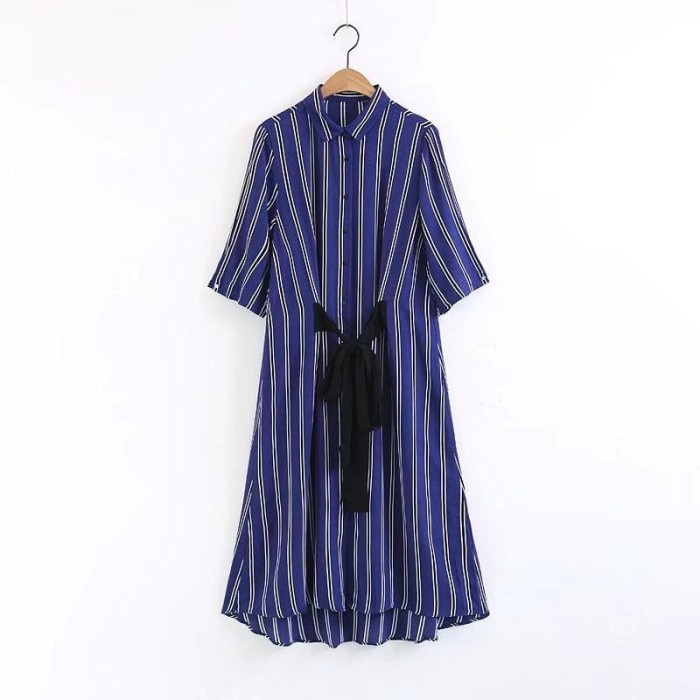 harga Royal blue stripe base (sml)  dress - 45107 Tokopedia.com