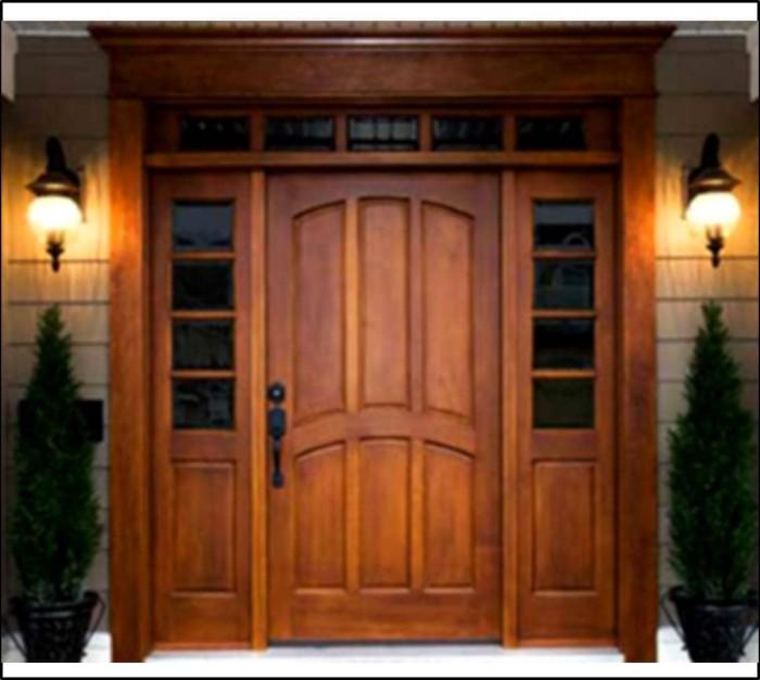Jual Pintu Rumah Minimalis Natural Kab Jepara Mebel Luqman Jaya Tokopedia
