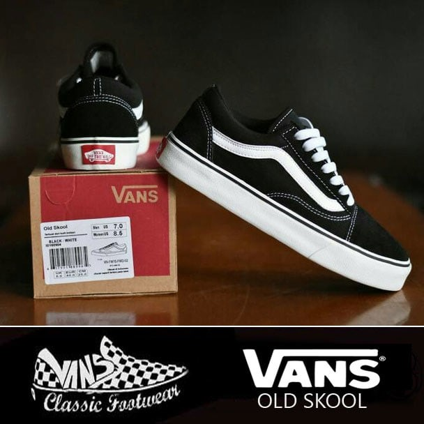 890d9017fd1 Jual Sepatu Vans Old Skool Classic Black White
