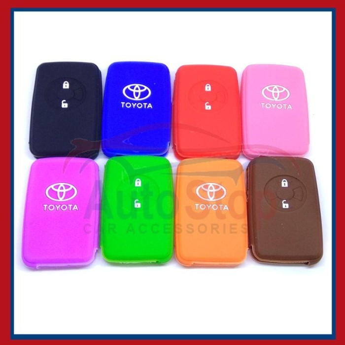 Kondom Kunci Silikon Remote Sarung Remot Toyota Yaris Vios TRD Murah