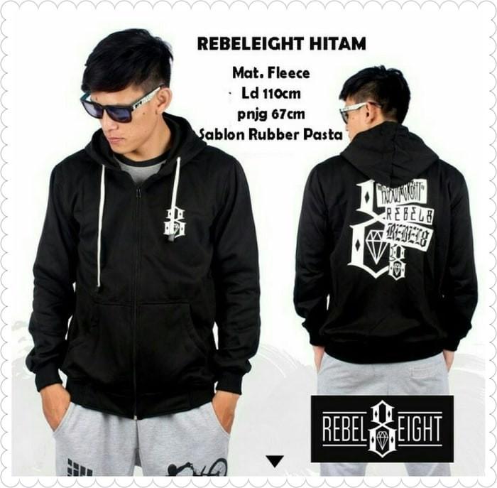 harga Jaket sweater hoodie jaket rebel eight black rebel8 rebeleight Tokopedia.com