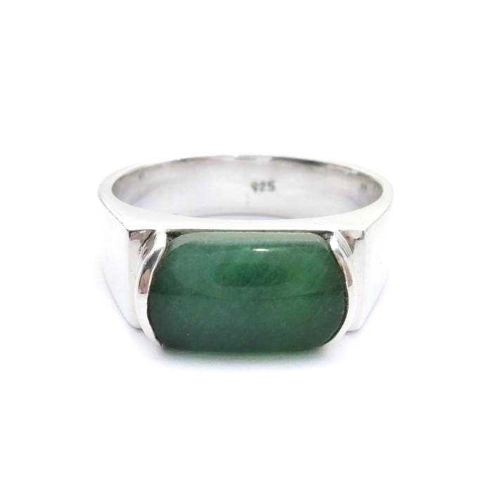 Jual Cincin Perak Batu Giok Cincin Perak Batu Jade Kab