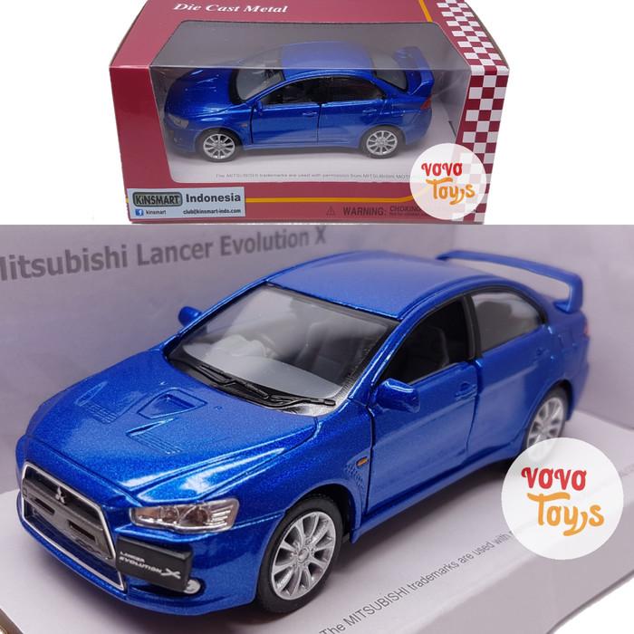harga Kinsmart Miniatur Mobil Mitsubishi Lancer Evolution X Blue Tokopedia.com