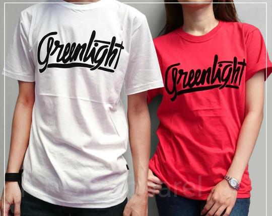 Distro/Kaos/Baju/T-Shirt/COUPLE FLOCKING SERIES GREENLIGHT